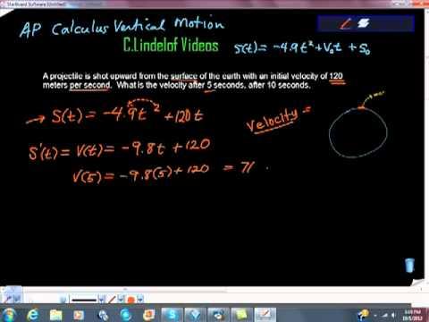 AP Calculus AB Vertical Motion Problem