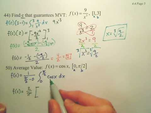 4.4c2 The Fundamental Theorem of Calculus - Calculus