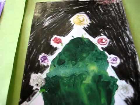 Christmas.Crayon trees