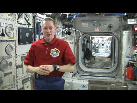 How are blood samples analyzed in space?