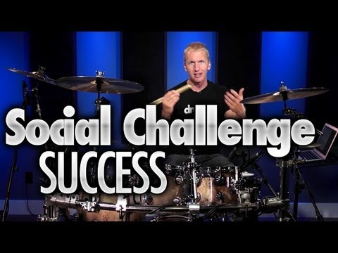 Social Drumming Challenge Success - Drum Lessons