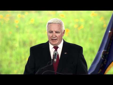 Pa. Gov. Tom Corbett Speaks at Shanksville Memorial for 9/11 Anniversary