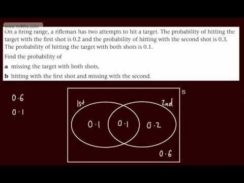 (3) S1 Probability (2nd Basic example using Venn Diagram) Edexcel Statistics 1 AS maths