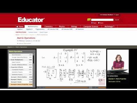 Algebra 2: Matrix Operations
