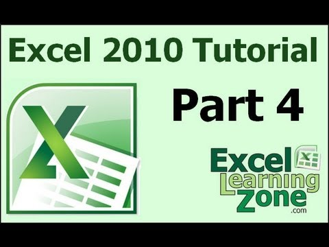 Microsoft Excel 2010 Tutorial - Part 04 of 12 - Excel Interface 4