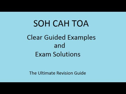 Mathlearn.co.uk and nine important examples of SOHCAHTOA part 1 for GCSE