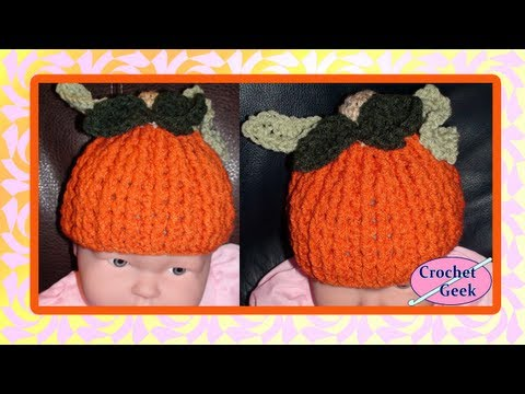 Pumpkin Spice Jr - Child Crochet Pumpkin Hat