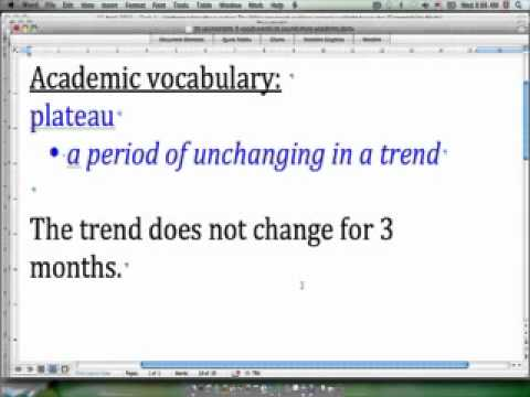 30 second IELTS - Academic vocabulary - 'plateau'