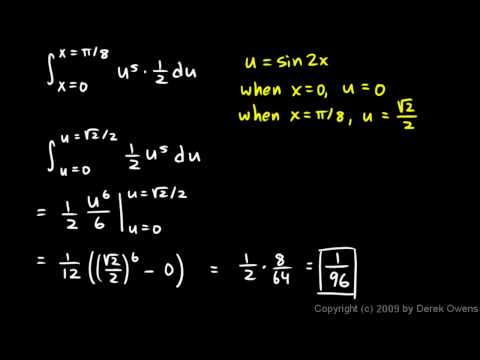 Calculus 9.1e - Integration with Substitution and Change of Limits