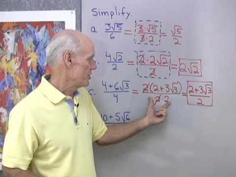 Algebra Help: Simplifying Radicals 1