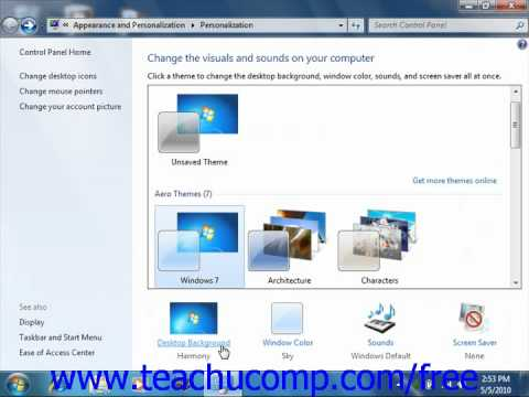 Windows 7 Tutorial Setting Monitor Display Properties Microsoft Training Lesson 2.1