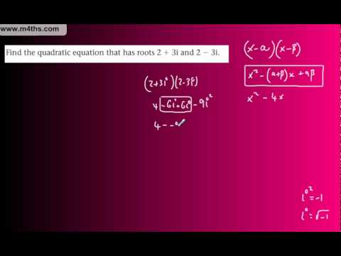 (11) FP1 Complex Numbers (Edexcel Further Pure Maths) - Sum and product of roots part 2