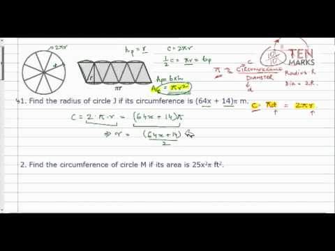 Find Measurements of Circles