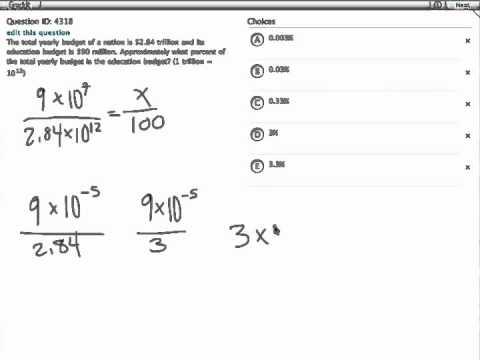 Grockit GMAT Quantitative - Problem Solving: Question 4318