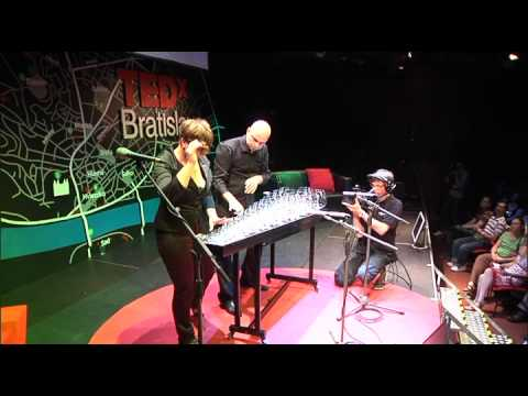 TEDxBratislava - GLASS DUO - Musicians with glass.mov