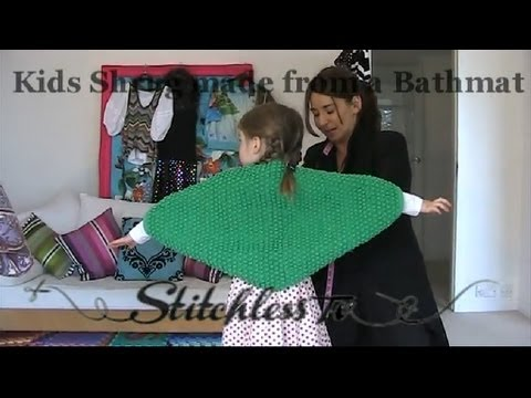 HOW TO MAKE A SHRUG FROM  BATHMAT