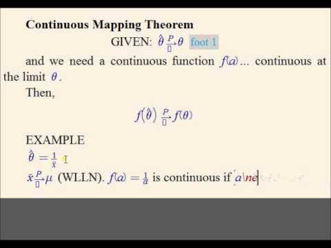 E1.11: Applying the Continuous Mapping Theorem (Econometrics Math)