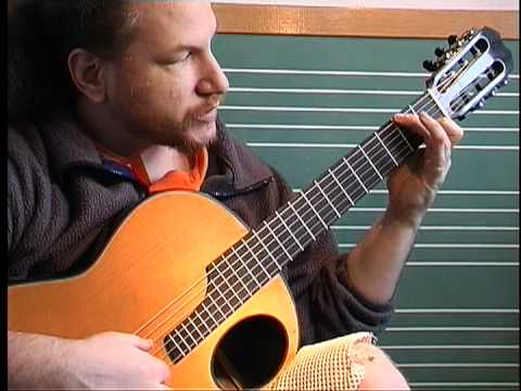 How To Play Bourre In E minor by J S Bach on guitar - A section, Part 2 of 5