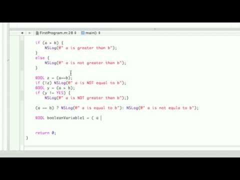 Objective-C Tutorial - Lesson 5: Part 2: Xcoding Decisions in your Code