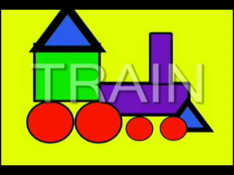 Vids4Kids.tv - Learn Shapes And Build A Train