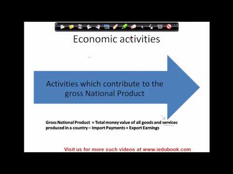 508.Class XI - CBSE, ICSE, NCERT -  Employment - Meaning of Economic activities