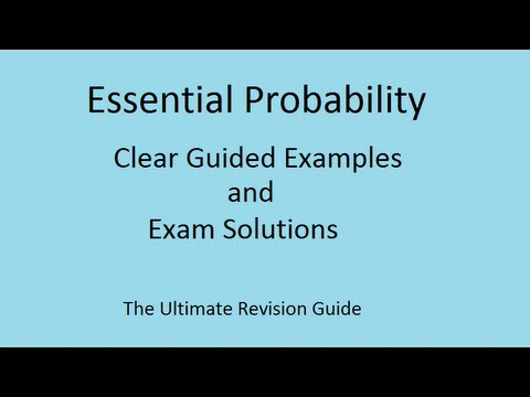 Tree Diagrams and conditional probability - A-level Statistics 1 and part GCSE