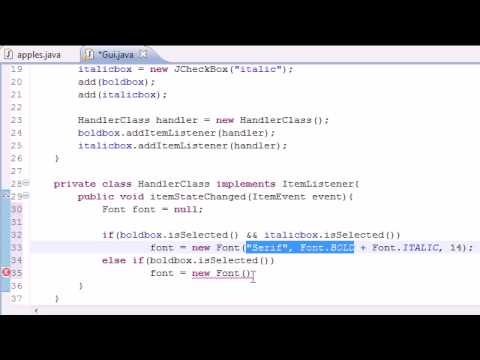 Java Programming Tutorial - 65 - The Final Check Box Program