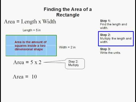 How to Find the Area of a Rectangle.