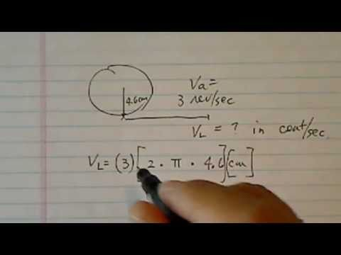 Angular & Linear Velocity: How to Convert between Them
