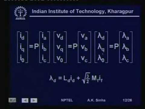Lecture - 14 Synchronous Machine Model