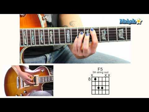 How to Play F5 8th Fret 5th String Root on Guitar