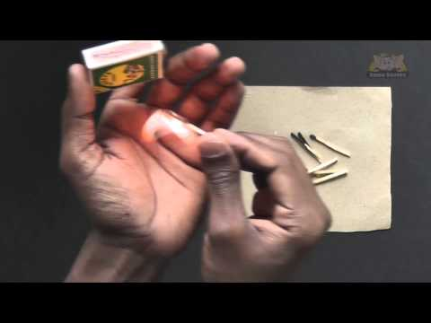 Re-use Burnt Matchsticks - Learn a Trick
