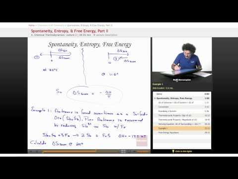AP Chemistry: Spontaneity, Entropy, & Free Energy, Part 2