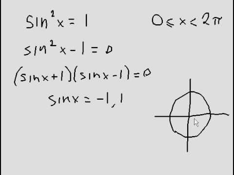 Solution of simple trigonometric equation - Quick explanation.