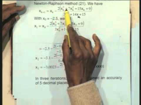 Lec-6 Solution of Nonlinear Algebraic Equations-Part-5