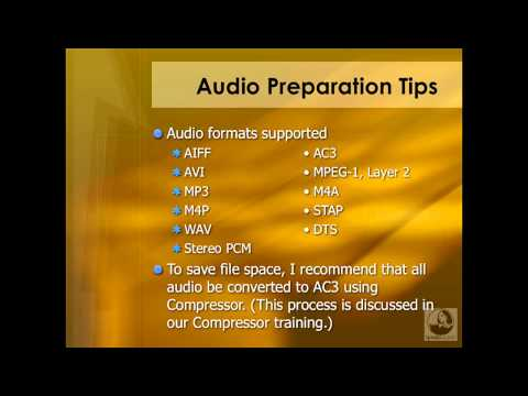DVD Studio Pro: Preparing audio assets | lynda.com