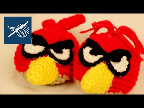 Left Hand Crochet - Grumpy Bird Cardinal Crochet Toy - LHV