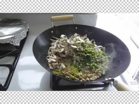 กระเพราไก่ไข่ดาว  Chicken with Holy Basil with fried egg Part 2