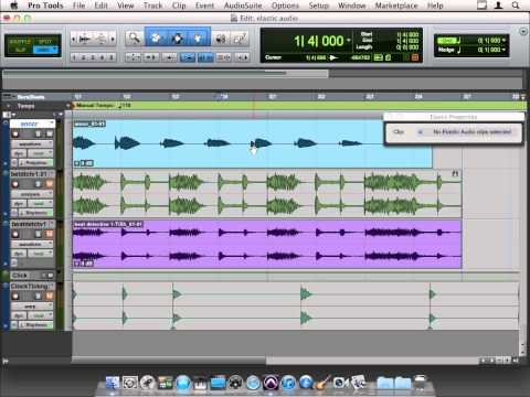 Avid Pro Tools 10 Tutorial | Adjusting Pitch using Elastic Audio