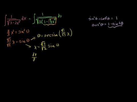 Integrals: Trig Substitution 1