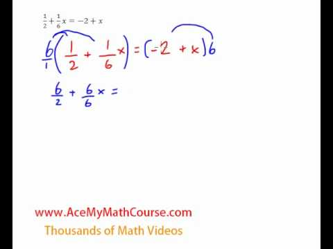 Equations (Variables on Both Sides with Fractions)