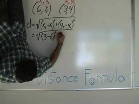 Algebra - The Distance Formula