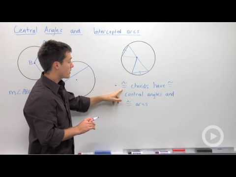 Geometry - Central Angles and Intercepted Arcs