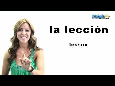 "How to Say ""Lesson"" in Spanish"