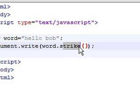 Javascript Tutorial - 18 - Style Strings