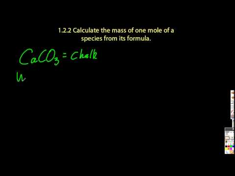 1.2.2 Calculate the mass of a mole of a species from its formula  IB Chemistry SL