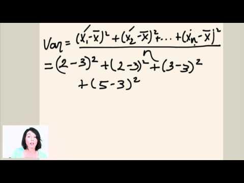 Statistics: Range, Variance and Standard Deviation (ex.1)