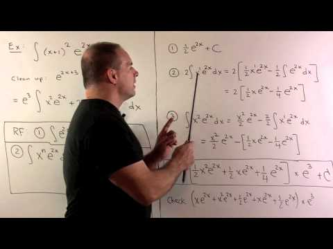 Reduction Formula for x^n exp(ax)