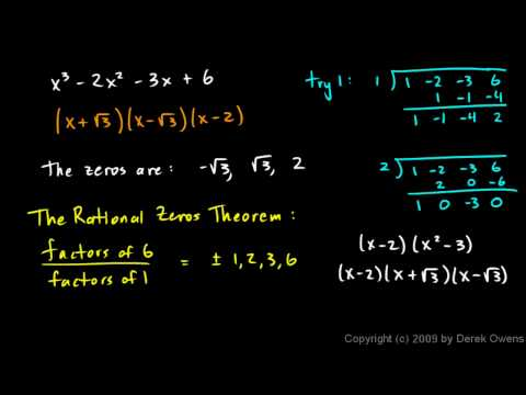 Algebra 2  6.07d - The Rational Zeros Theorem, Part 4