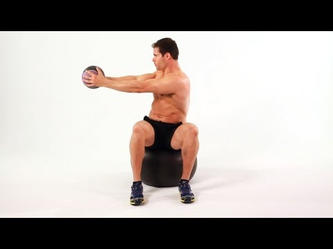 Seated Twist on Exercise Ball | Home Ab Workout for Men
